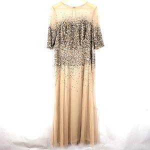 Adrianna Papell Sequin Beaded Dress